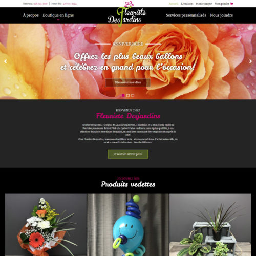 Fleuriste Desjardins – La Mitis – Rimouski